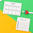 日常備忘週計畫便利貼 事務用品 便條紙 備忘錄