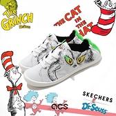Skechers 休閒鞋 Beach Bingo Dr.Seuss 女 聯名 白 塗鴉【ACS】 113596WMLT