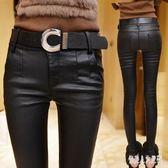 皮褲女新款潮亞光磨砂外穿高腰小腳顯瘦 qw547『俏美人大尺碼』
