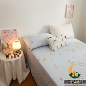 純棉卡通雙層紗床罩床包少女宿舍全棉床上用品【創世紀生活館】