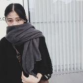 韓版仿羊絨圍巾女冬季加厚圍脖兩用長款秋百搭學生純色韓國大披肩Ifashion
