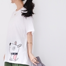 【慢。生活】狗狗刺繡寬版休閒T恤 1555  FREE 白色