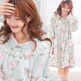 (外單少量)雙層絨毛~珊瑚絨睡裙款or睡衣褲款-玫瑰莊園(睡裙款、睡衣褲套裝款~