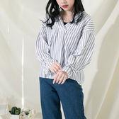 IN'SHOP韓系顯瘦前後V領袖釦帶造型上衣-共3色【KT220709】