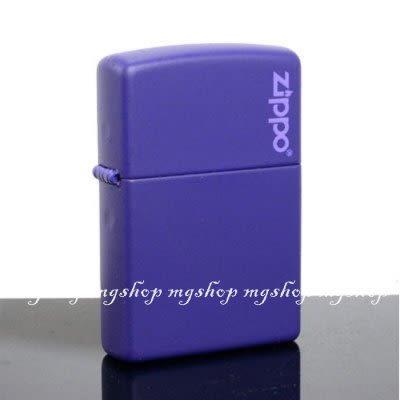 正版原裝 ZIPPO打火機 LOGO字樣-紫色烤漆237ZL(寬)