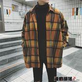 風衣外套男秋季潮流外套中長款風衣韓版款休閒男裝夾克情侶裝 運動部落