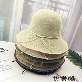 日式細密手工編織漁夫草帽女