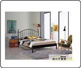 海中天休閒傢俱廣場C 07 摩登 鐵床系列80 3 菲柏簡約5 尺黑色鐵床台