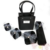 高檔絨布項鏈戒指手鐲手鏈吊墜表求婚首飾禮品包裝【聚可愛】