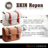 《7color camera》Zkin Ropen 羅賓真皮龐克復古單眼相機包『滿千折百-限時限量』