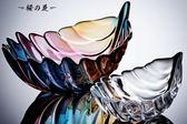 Violetta 羽毛 果盤 果斗 玻璃碗 玻璃盤 干果盤 無鉛玻璃 宜家【櫻花本鋪】