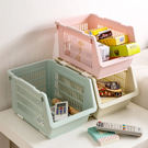✭米菈生活館✭【A23】日式可疊加收納籃 廚房 居家 蔬菜 水果 玩具 書本 雜誌 分類 籃子 衛浴