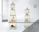 {{ 海中天休閒傢俱廣場 }} G-42 摩登時尚 精品系列 943-3 美式復古花架(高)