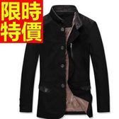風衣外套-時尚舒適大方長版男大衣6色59r49[巴黎精品]