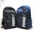 PUMA STYLE 後背包 可放筆電 有夾層 耐磨底 水壺袋 迷彩 0767030- 兩色【iSport愛運動】