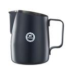 金時代書香咖啡 TIAMO 斜口拉花杯 450cc - 圓口設計 黑 HC7106BK