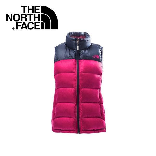【The North Face 女 800 fill 羽絨背心《紫紅/宇宙藍》】CTV9/保暖背心/戶外/抗寒/休閒