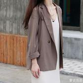 風小西裝外套女短款西服空調衫小香風休閒百搭韓版潮  麥吉良品