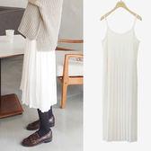 洋裝 2017秋冬新款韓國修身打底吊帶長裙連身裙