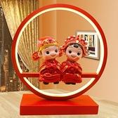 禮品高檔實用婚房裝飾品擺件婚慶台燈