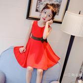 洋裝女童夏裝2019新款洋裝韓版兒童雪紡中大童小女孩洋氣時髦公主裙