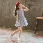 洋裝 童裝女童連衣裙2018新款夏裝洋氣兒童公主裙中大童純棉短袖裙子潮【快速出貨八折下殺】