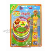 〔小禮堂嬰幼館〕麵包超人 套圈圈玩具組《橘盒裝.椰子樹.坐姿》適合3歲以上兒童  4979750-63038