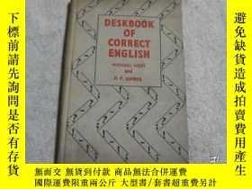 二手書博民逛書店【英文原版】Deskbook罕見of Correct Engli