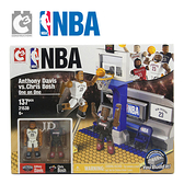 21539【C3 TOYS】超可動積木人偶 NBA系列 1對1半場套組 戴維斯vs波許
