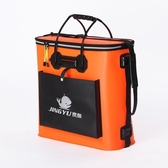加厚EVA折疊雙層防水魚包魚桶養魚箱裝魚桶釣箱釣魚桶漁具包DF 交換禮物