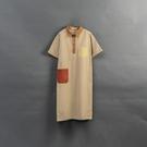 Queen Shop【01085240】女裝 親子系列口袋撞色設計短袖洋裝*現+預*