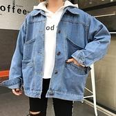 牛仔外套 春秋女裝新款韓版百搭牛仔衣外套bf原宿寬鬆顯瘦夾克上衣學生