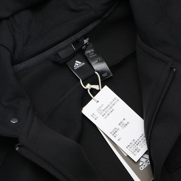 ADIDAS 運動外套 BTH HTT PEACH 黑 左胸口帶 棉 連帽外套 休閒 男 (布魯克林) GM4420