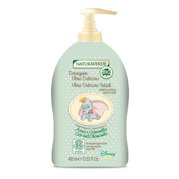 【義大利Disney Dumbo】有機嬰幼兒洗髮沐浴乳400ml