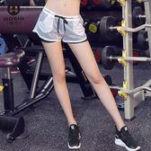 運動短褲 跑步健身服女子顯瘦運動短褲瑜伽服速乾假兩件 BBJH