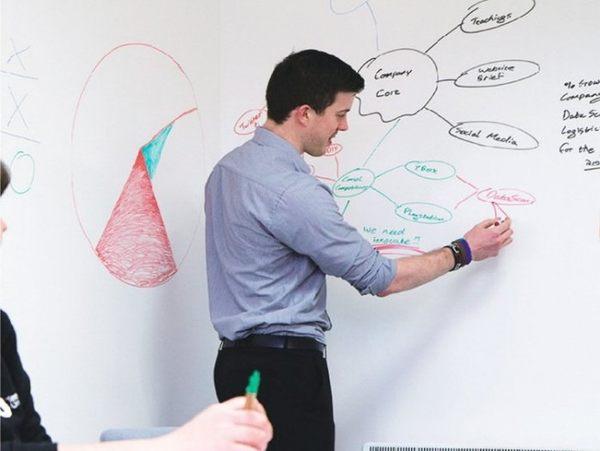 約翰家庭百貨》【TA010】環保PVC白板貼 創意塗鴉居家裝飾教學 可剪裁 不傷牆面 45x200cm 送1支白板筆