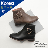 靴.梯形金屬釦短靴-FM時尚美鞋-韓國精選.young