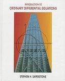 二手書博民逛書店《Introduction to Ordinary Differential Equations》 R2Y ISBN:0314058192