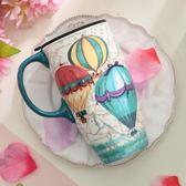 馬克杯帶蓋陶瓷家用創意潮流杯子大容量 JD2930【KIKIKOKO】