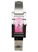 【卡漫城】 史奴比 長方鏡 手鍊 手錶 粉紅 ㊣版 史努比 女錶 Snoopy 不鏽鋼 水鑽 裝飾 原價打8折