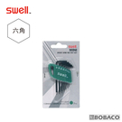 "SWELL【迷你黑六角扳手7支組】(英制0.028-7/64"")"