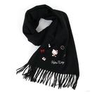 Hello Kitty圍巾 凱蒂貓黑色流蘇毛料保暖圍巾/披肩圍巾 [喜愛屋]
