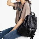 休閒時尚素面縫線後背包 -K6890天地...