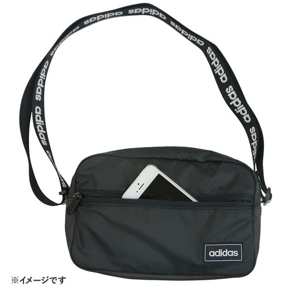 IMPACT Adidas Organizer Bags 黑 方形 背帶串標 雙層 拉鍊 側背包 ED0242