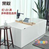 壓克力浴缸 果敢壓克力浴缸小戶型家用成人獨立式薄邊浴缸1-1.7米051保溫浴盆T 3色
