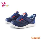 COMBI童鞋 寶寶鞋 男童機能鞋 學步鞋 運動鞋 慢跑鞋 CORE-S 魔鬼氈 速乾 A1906#藍色◆OSOME奧森鞋業