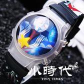 帶閃燈發光兒童電子手錶硅膠卡通手錶 RTB-7