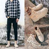 马丁靴  皮鞋 馬丁靴男高幫秋季男靴中幫戶外沙漠靴英倫復古靴子男短靴工裝靴