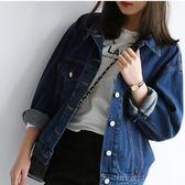 牛仔外套女寬鬆春秋韓版bf風學生上衣短款外套薄款長袖牛仔衣服潮