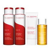 CLARINS 紅魔超S勻體精華200ml*2+緊塑俏臀乳100ml+芳香調和沐浴精100ml